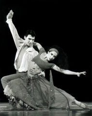 Rosetta Cook: with Martin Michel, Scheherazade ACT 2, 1990, QLD Ballet